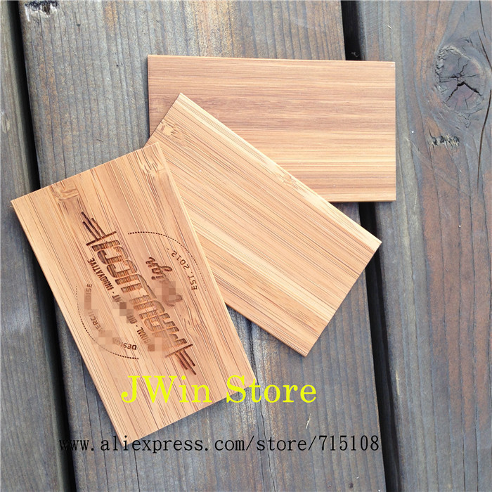 Us 59 5 Gravur Holz Visitenkarte Handwerk Bambus Name Karte Mode Skulptur Karte Für Kommerziellen Männlichen Frauen 100 Teile Los In Karten