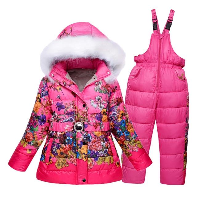 a41b0c0ed4da 2494.51 руб. 49% СКИДКА|Зимняя одежда для девочек от 7 до 8 лет, детские  лыжные костюмы, ...