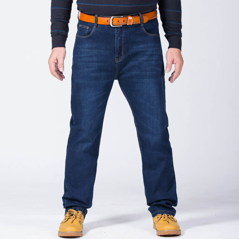 2018 summer Plus Size Men Jeans Big and Tall Stretch Denim Long Dropshipping
