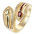 Змея кольцо позолоченные роскошный подарок для женщин drop доставка создан топаз cz циркон золотая принцесса свадьба меч КОЛЬЦА ЮВЕЛИРНЫЕ ИЗДЕЛИЯ