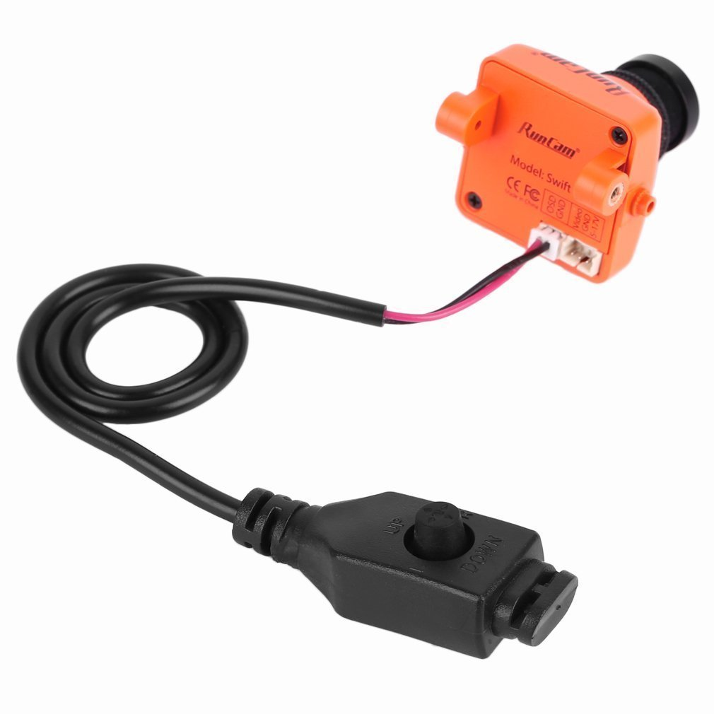 Runcam Swift Orange 600 TVL Horizontal IR Block Fov 90 FPV PAL Camera 2.8MM Lens & Base Holder for Mini QAV Quadcopter runcam swift original 600tvl mini fpv camera ir block 90 angle 2 8mm lens
