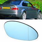 Right Driver Side Blue Tinted Heated Wing Door Mirror Glass For BMW M3 E46 2001 2002 2003 2004 2005 2006