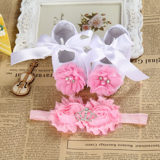 Christening Baby Baptism Flowers Shoes 1f2ee27fc460