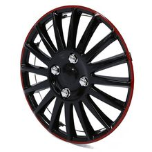 1 pcs 14 inch Car Wheel Trim Hub Cap Plastic Cover Universal Matte Black 12 inch car vehicle chrome wheel rim skin cover hub trim cover hubcap wheel cover