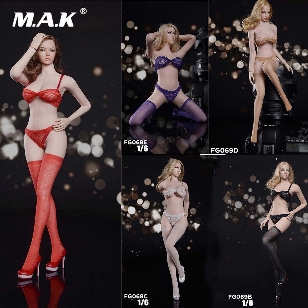 "X1 Custom 1:6 Figure Black Underwear For 12/"" Phicen Female Big Bust Body Doll"
