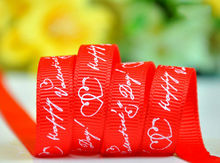 100yards a roll 9mm and 25mm width Happy Valentines Day red ribbon Decorating party Holiday supplies DIY accessories
