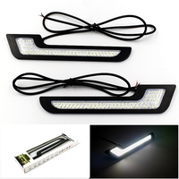 New 2Pcs Set LED DRL Daytime Running Lights Styling Super Bright External Car Auto Driving Front