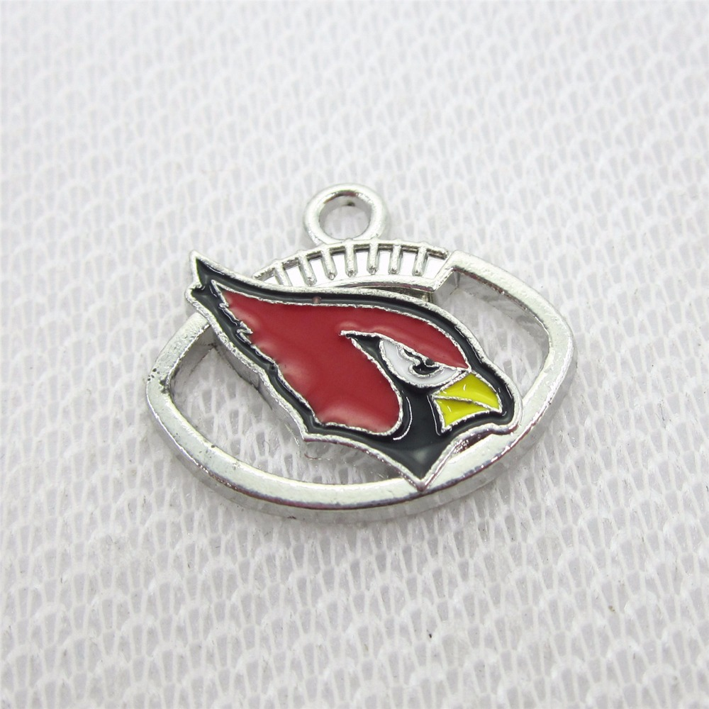 Wholesale price! 100pcs America Football Sports Arizona Cardinals Charms Dangle Hanging Charms DIY Jewelry pendants charm