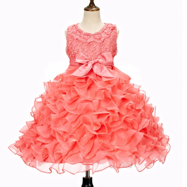 Free shipping!2016 new fashion summer girls boutique dress Tutu cute baby girl dress birthday party princess tutu dresses