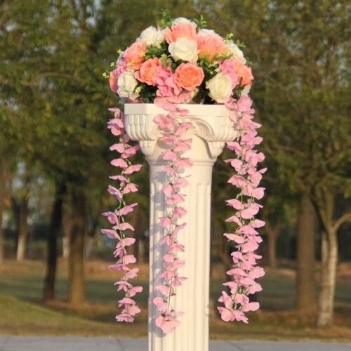 Свадебные композиция Диаметр Цветок свадебное оформление букета цветок для дорожного свинец римская колонна 4 шт./лот - Цвет: 5