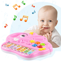 New design 6 styles Wholesale Baby Kid's Cartoon Animal Mobile Piano Smart Music Toy Electric ENGLISH Early /Xmas Gift