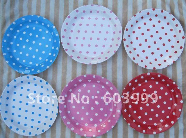 Pretty polkadot plate 23cm/9inch diameter Premium glossy quality Paper Plates -9\  Light  sc 1 st  AliExpress.com & Pretty polkadot plate 23cm/9inch diameter Premium glossy quality ...