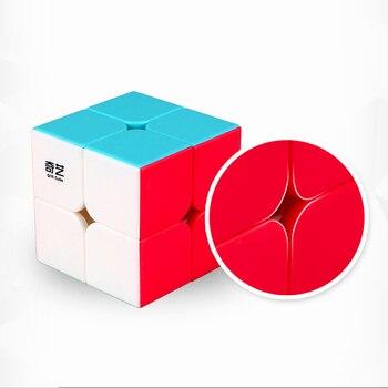 Qiyi Qidi 2x2x2 Magic Speed Cube Pocket Stickerless Puzzle Cube Professional 2x2 Speed Cube Educational Funny Toys For Children yongjun mirror 2x2x2 magic cube yj 2x2 professional speed puzzle antistress educational toys for children