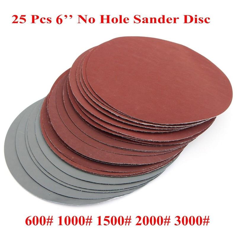 25pcs 6 Round Sanding Disc Polishing Pad Sander Paper Set 600-3000Grit Sanding Paper for Abrasive Tools williams amstrad disc companion paper only