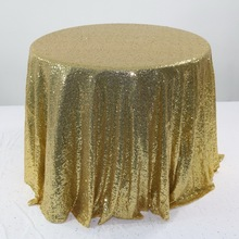 1pcs 120cm 180cm Royal Blue Gold Silver Embroidery Mesh Shiny Sequin Tablecloth