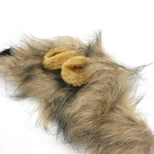 Cut Pet Puppy Dog Cat Lion Mane Wig Cap Hat Autumn Winter Halloween Christmas Party Dogs Cats Animal Cosplay Fancy Dress Costume
