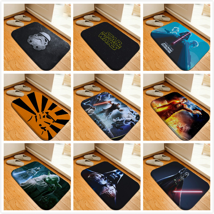 Mats Anti Slip Floor Mat Star Wars Yoda Stormtroopers
