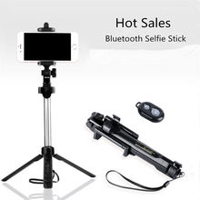 2018 New Good Quality Foldable selfie stick monopod Phone Tripod For iPhone Android For Samsung Xiaomi Huawei Remote Bluetooth(China)
