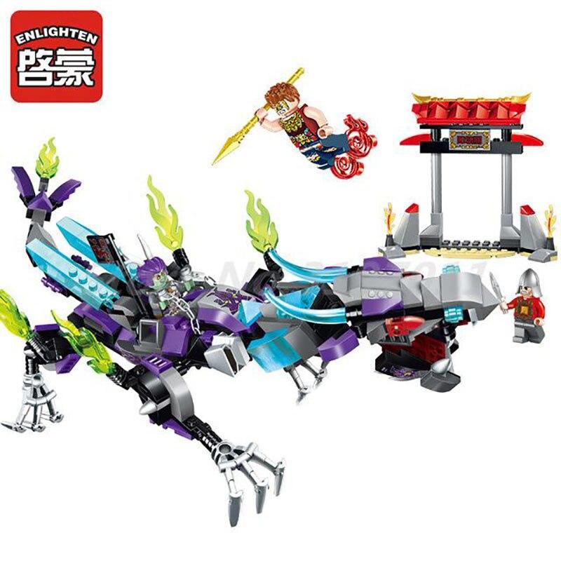 ENLIGHTEN 2211 Creation Of The Gods Na Zha Dragon Model Building Block 338Pcs Bricks Educational Toys For Children Gifts