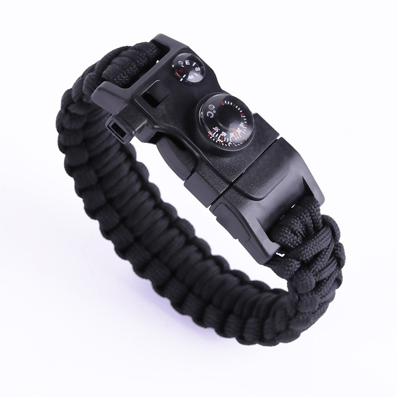 12 IN 1 Tactical Multi Paracord Survival Bracelet Outdoor Camping compass Rescue Rope paracord Camping equipment Tools