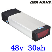 48V 1000W 1500W 2000W Rear Rack electric bicycle battery 48V 30AH lithium battery for 48V scooter ebike battery with Tail Light