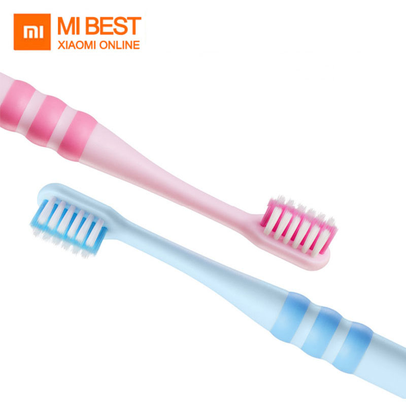 New 2pc/set Xiaomi Doctor B Kid Toothbrush Food Grade Material Imported Soft Brush for 6-12 Year old Children best gift image