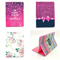 Wholesales New Delux Fashion PU Leather Tablet PC Cases Smart Cover For Ipad 6 Flip Stand