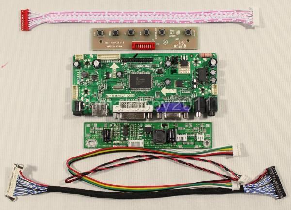 HDMI+DVI+VGA+Audio Lcd controller board M.NT68676 for 21.5inch T215HVN01.0 M215HW03 V1/2 (without lcd)