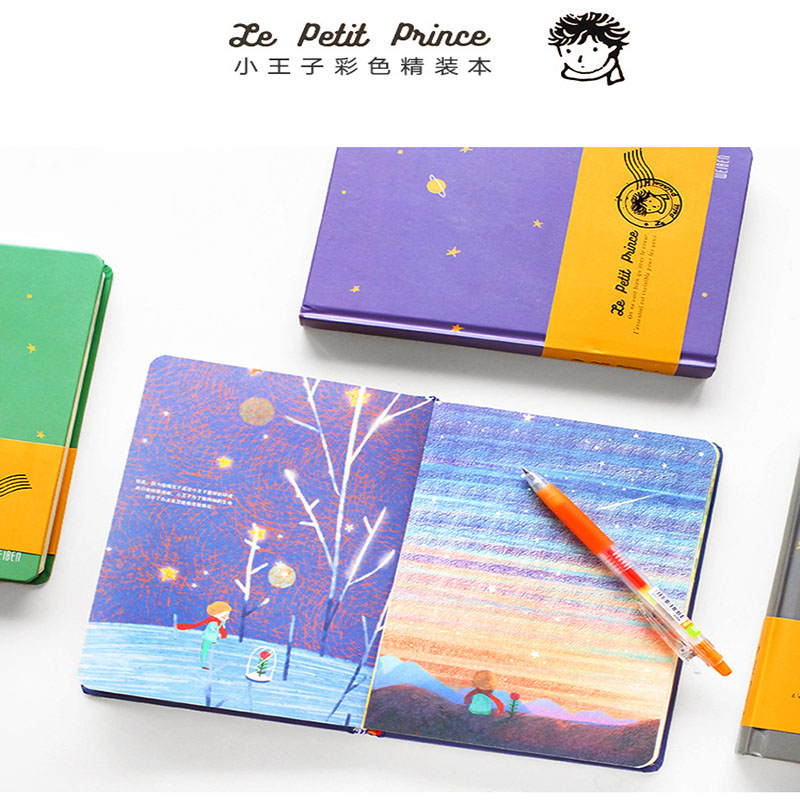 Little Prince Colorful Page Notebook Hand Craft Composition Book Diary Office School Stationery Students Gifts Sketch Notebook liquid nitrogen liquid ammonia antifreeze leather gloves lng filling stations low temperature ice cold water cold