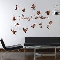 Vrolijke Quotes Venster muurstickers stickers Indoor ornament ambachten mode poster kerstboom decoraties voor home