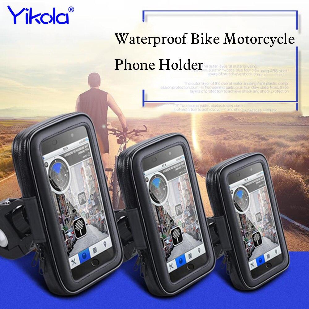 Moto Vélo Support de Téléphone Pour iPhone 7 6 6 S Plus Xiaomi Huawei Support Mobile Téléphone Stand Avec Boîtier Étanche Sac Shell