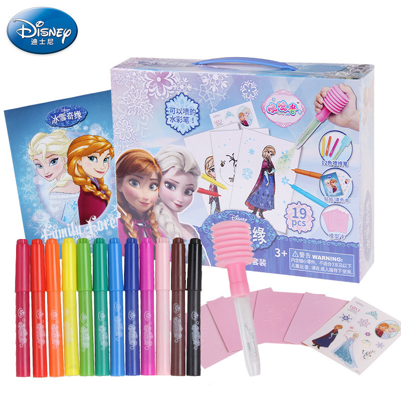 2016 New Arrival Anna Elsa 12 Can Spray Watercolor Magic Novelty Pen Drawing Painting Writing Educational Kids Doodle Toys Gift handbook of international economics 3