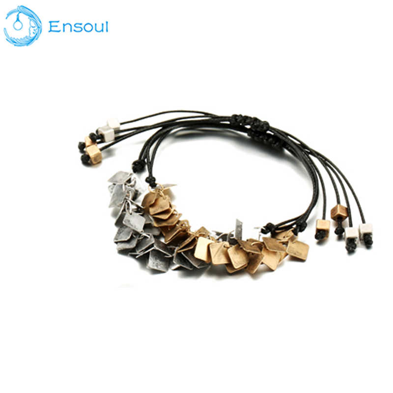 Ensoul Unique Fashion Women Bracelets Woven Pendant Alloy Fringe Bracelet Vintage For Women Girls Wristband Jewelry
