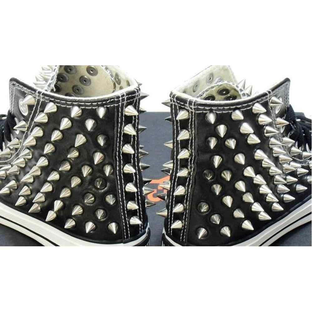 100 шт./компл. 9,5 мм серебряные конусные шпильки и Шипы DIY ремесло классные панк заклепки для одежды Сумка Обувь Кожа для самостоятельного изготовления