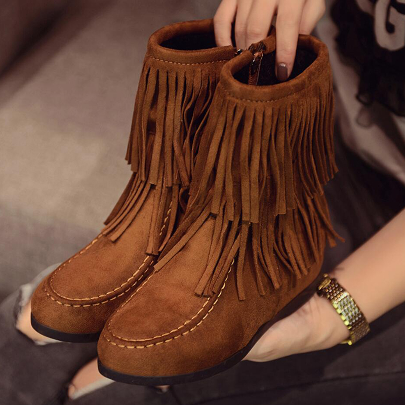 Online Get Cheap Short Fringe Moccasin Boots -Aliexpress.com ...