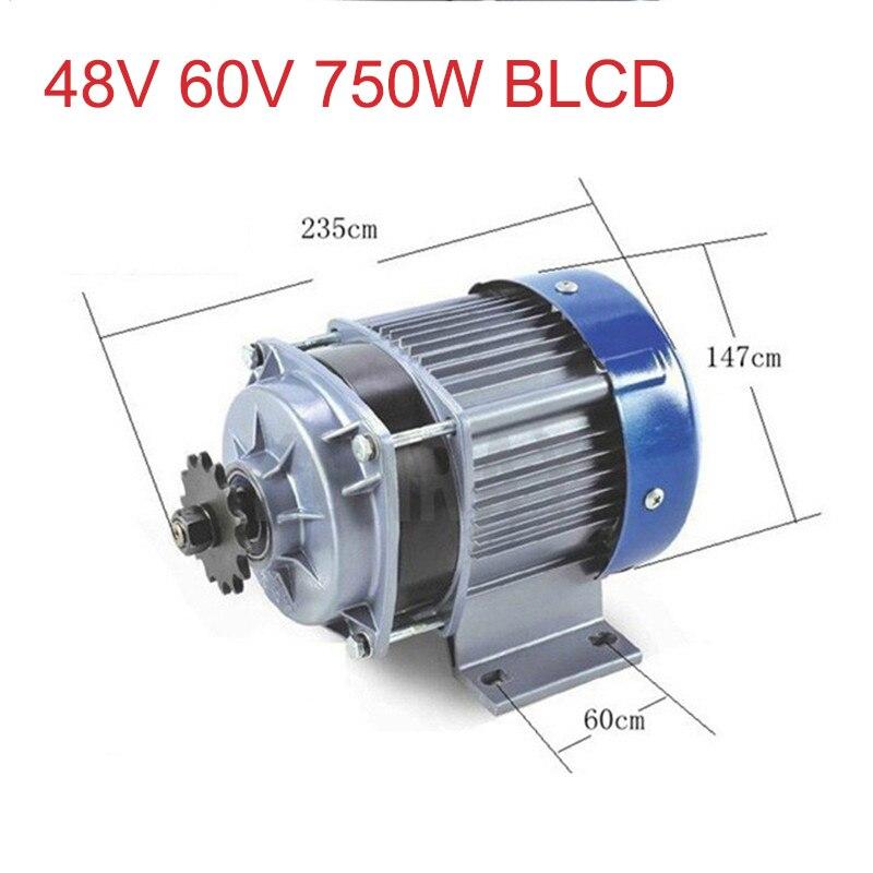 500w Dc 36v / 48v / 60v Brushless Motor Bm1418zxf Bldc Electric Bicycle Motor