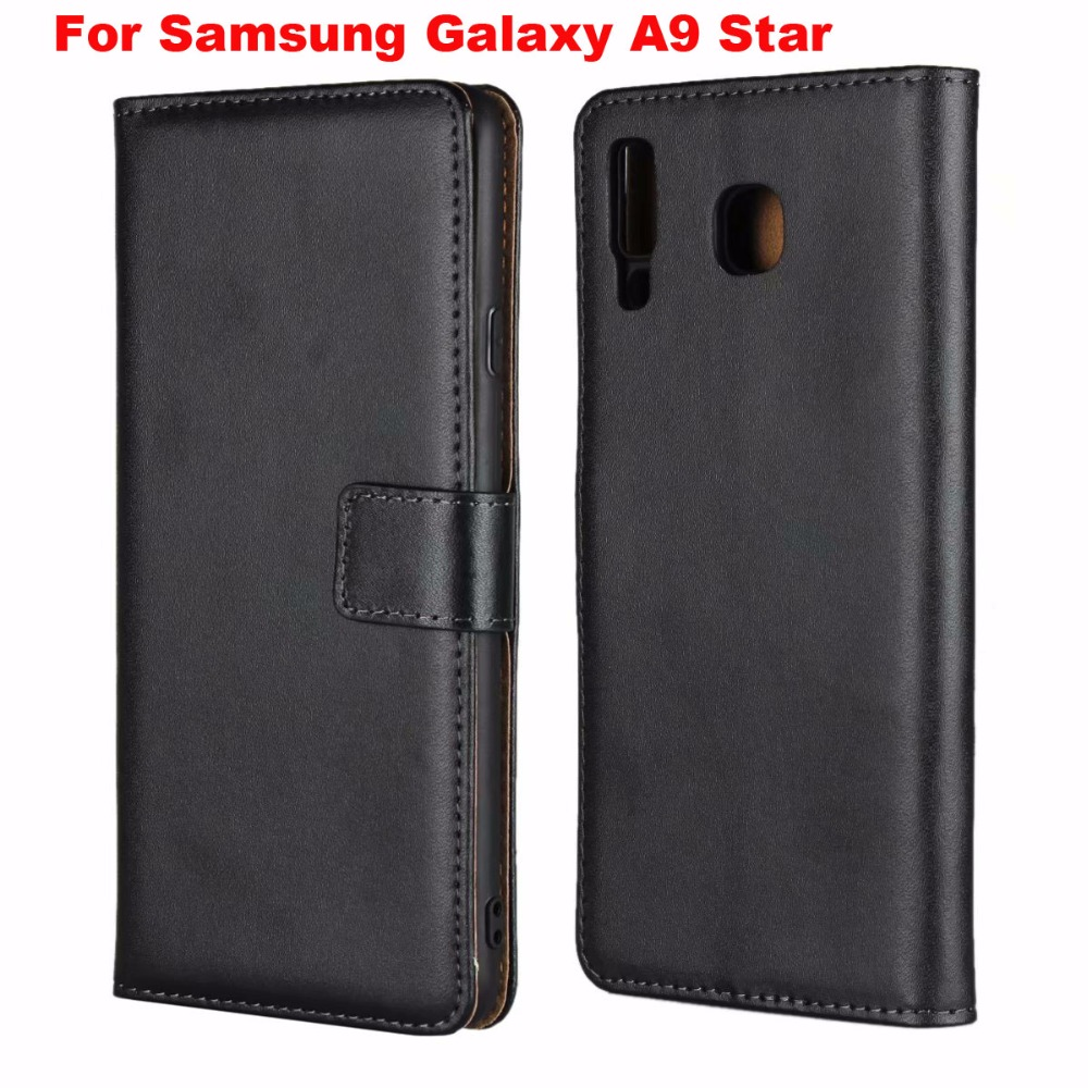 Folio Stand Wallet Genuine Leather Mobile Phone Case For Samsung Galaxy A9 Star,For Nokia 3.1,For Nokia 2.1,Google Pixel 3