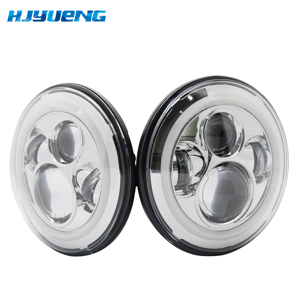"""Image 4 - 7Inch LED Headlamps with Halo Ring Amber Turn Signal For lada niva 4x4 suzuki samurai 7"""" LED DRL Halo Headlights For VAZ 2101-in Car Light Assembly from Automobiles & Motorcycles"""