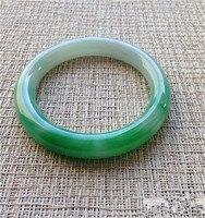 Yu piedra Natural pulsera de Mujer estilo circular delgada BianKuan Yang verde violeta superficial pulseras