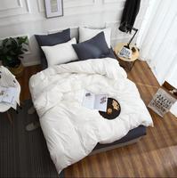 40S High quality home bed four pieces Sets Pure double color full cotton ( sheets + Duvet Cover + 2PC Pillow Case ) C003