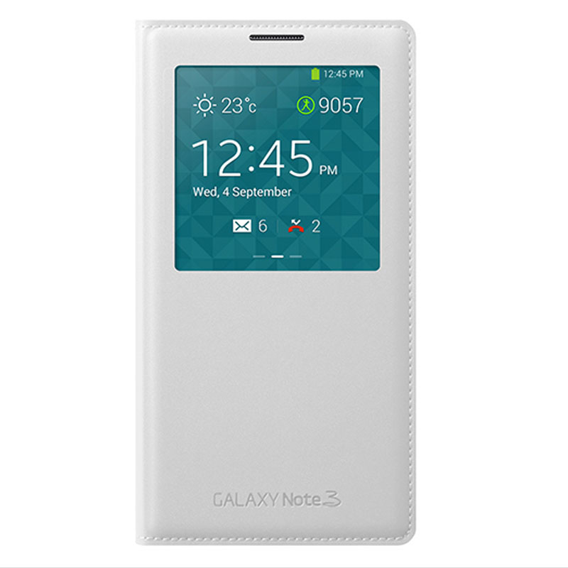 For <font><b>Samsung</b></font> <font><b>Note</b></font> <font><b>3</b></font> Window View <font><b>Flip</b></font> <font><b>Case</b></font> Smart Cover Galaxy note3 n9005 N900 Leather Front Back Full Protective Bag Sleep Coque image