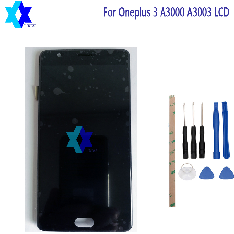 Para Oneplus 3 A3000 A3003 Display LCD + Touch Screen Substituição Peças de Montagem Do Painel Digital Original 5.5 polegada 1920x1080 p Em Estoque