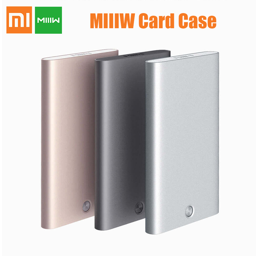 Xiaomi MIIIW card case Creative Mechanical button All aluminum alloy cover 70.4g Wallet ID Card Box protable Credit Card Case