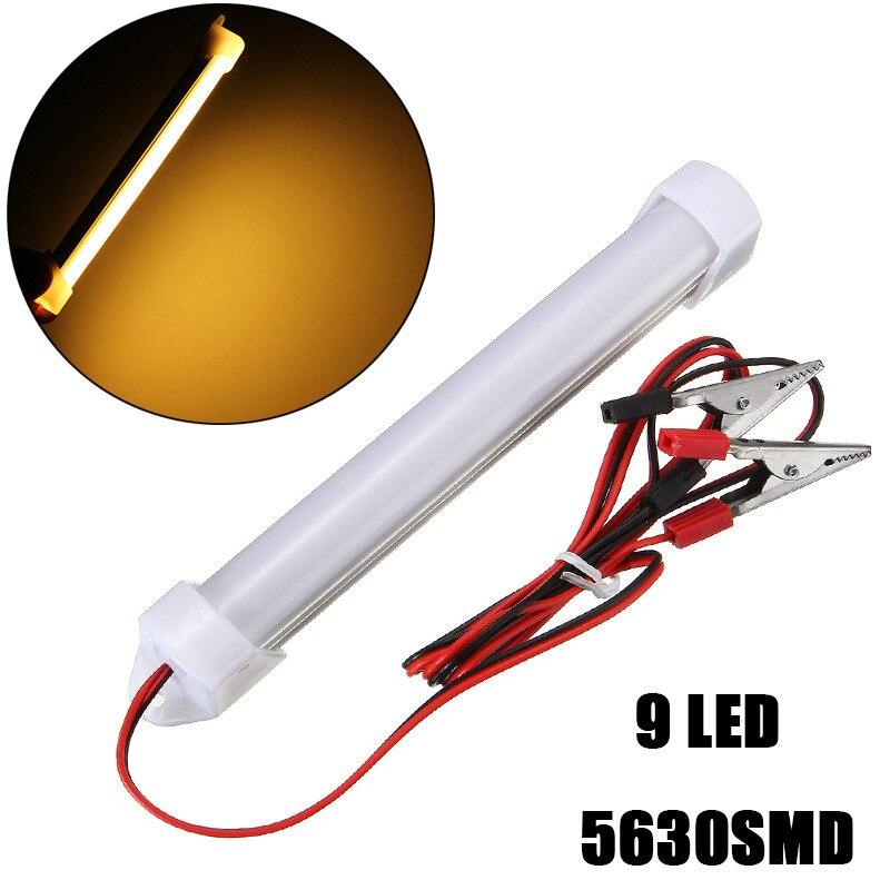 Warm White 12V 5630 9 LED Car Aluminum LED Bar Light SMD Interior Light Bar Tube Strip Lamp Boat