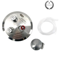 home brew 4 INCH TRI CLOVER KEGMENTER LID WITH BALL LOCK POSTS, FLOATING DIP TUBE AND PRV