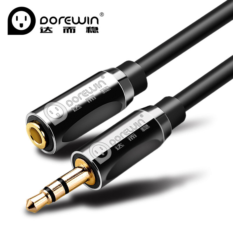 Dorewin 3.5mm Audio Extension Cord 3.5 Jack AUX Headphone Cable Female to Male adapter for Earphone Edifier MP3 Speaker Car 3 5mm male aux audio plug jack to usb 2 0 female converter cable cord for car mp3 speaker u disk usb flash drive accessories 3 5