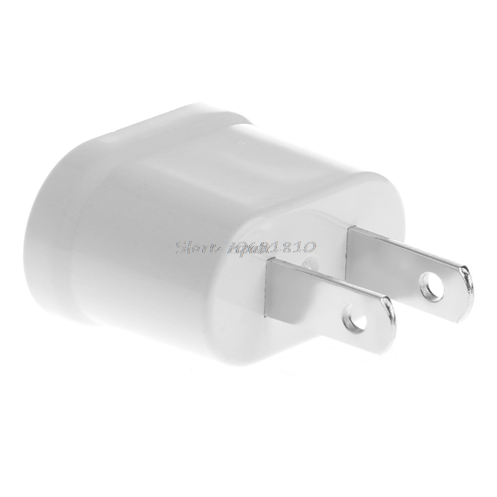 EU Female To US Male AC Power Plug Converter Universal Travel Charger Adapter Z17 Drop ship