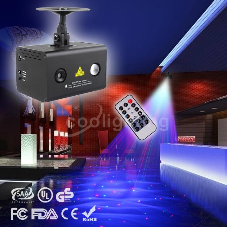 High quality new remote control 12 patterns red and green water laser light KTV full-color laser light lamp Mini Bar 100mw650nm cross red laser head high power red positioning marking instrument high quality