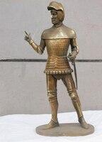 Bi002762 14.5 Western Art Бронза Скульптура римские Кендо шлем воина статуя