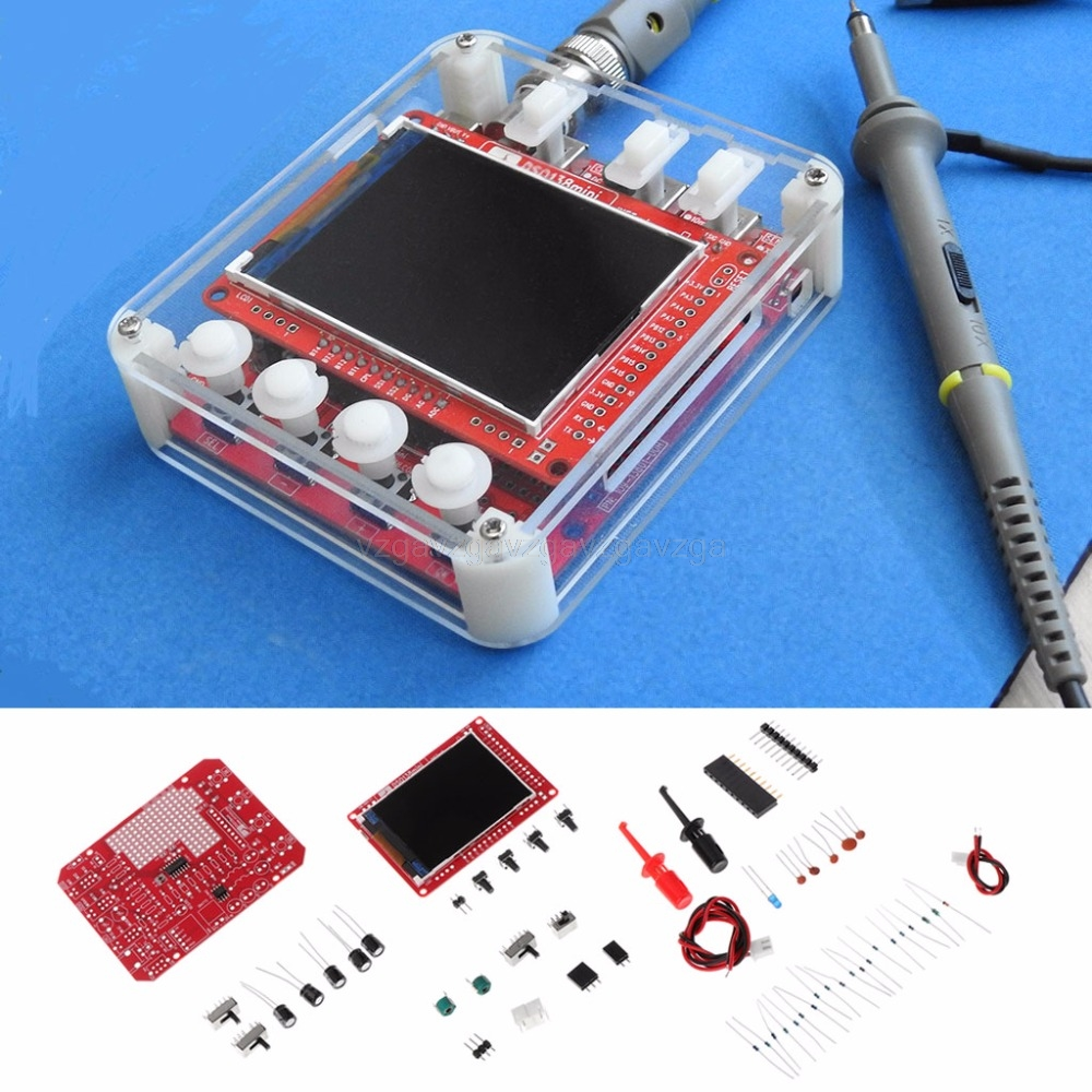NEW DSO138mini Digital Oscilloscope Kit DIY Learning Pocket-size DSO138 Upgrade Au29 Dropship mini avr dso150 pocket digital oscilloscope kit usb cable and probe diy learning